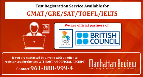 GMAT/GRE/SAT/IELTS/TOEFL Test Registration Service